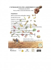 Setmana biodiversitat cultivada Olot-Girona 2011