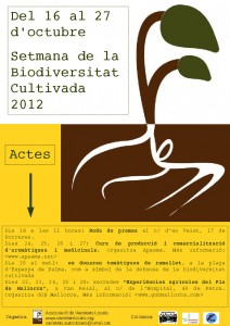 Cartell Setmana Biodiversitat 2012